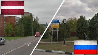 Латвия и Россия. Сравнение. Даугавпилс - Тихорецк. Latvija - Krievija.