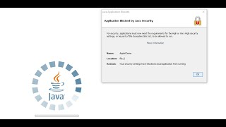 Application Blocked by JAVA Security | Solved!!!!