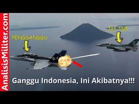Langgar Kedaulatan Indonesia, Jet Tempur Amerika ini Nyaris Ditembak Jet Tempur Indonesia