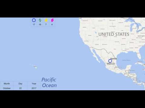 2017 Eastern Pacific Hurricane Season Prediction Animation