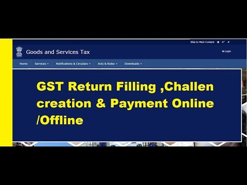 GST Return filling &  Challan Creation, Payment of Tax on-line & offline LIVE Demo in GSTN Portal