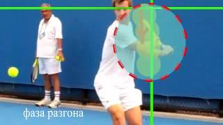 Теннис. Удар слева.
