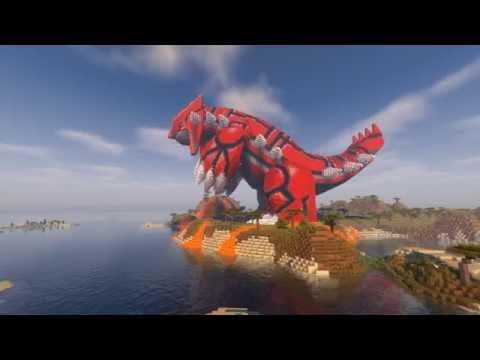 Minecraft Groudon Build Pokemon Youtube