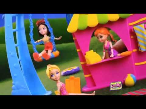 Polly pocket piscine et toboggan mattel youtube for Piscine polly pocket