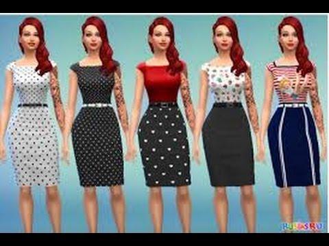 Скачать одежду для sims 4, sims 4 одежда скачать, симс 4 женская.