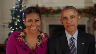Most Emotional Last  Christmas Address  For Obama At The White House