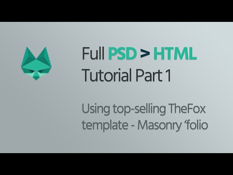 Learn PSD To HTML Conversion Using TheFox On ThemeForest - The Navigation Bar