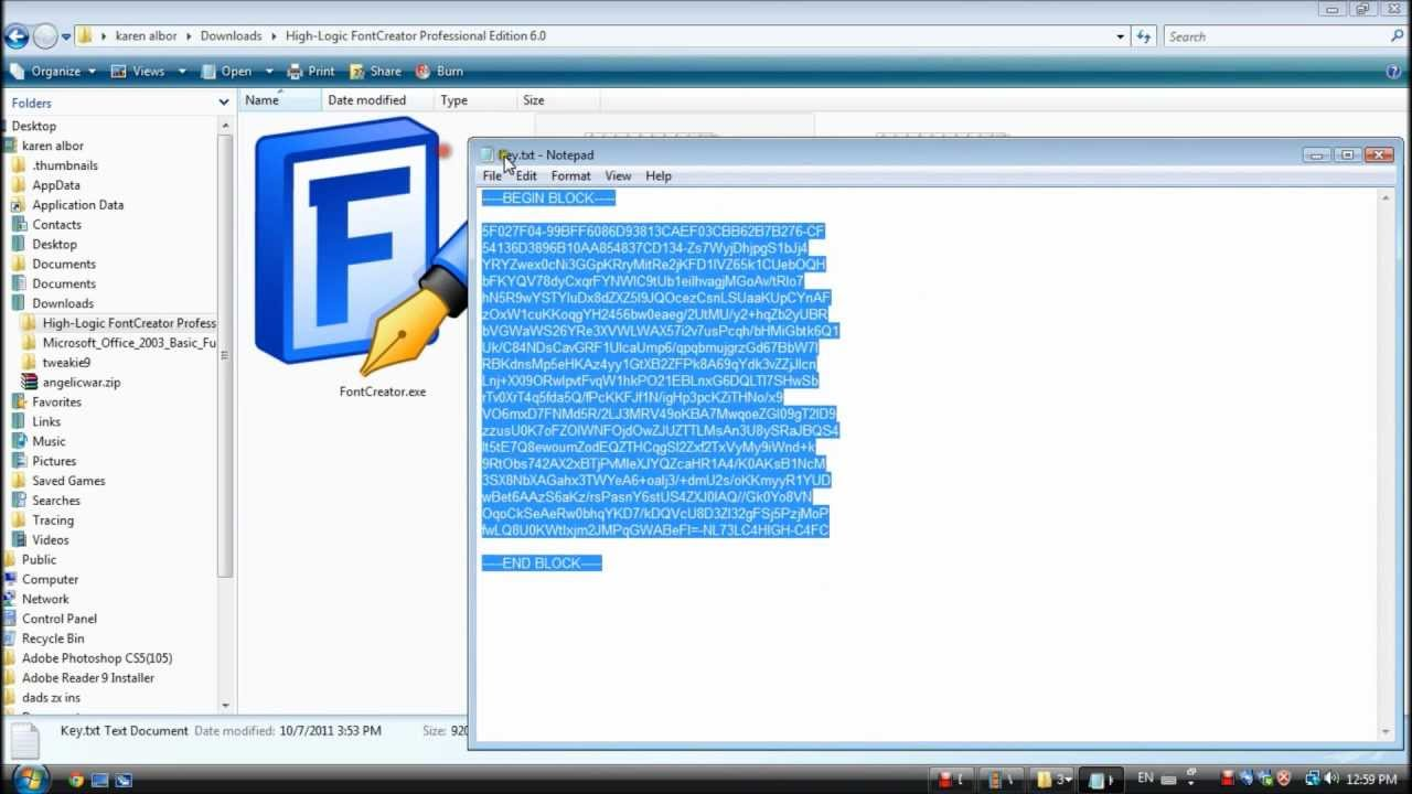 Your writing to font using Hi-Logic FontCreator quick ...