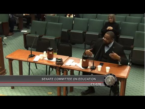 Senate Education - Rev. Kyev Tatum, SCLC, Part 1 - March 26, 2015