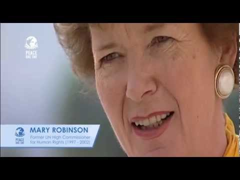 Mary Robinson supports Peace Day (2001)
