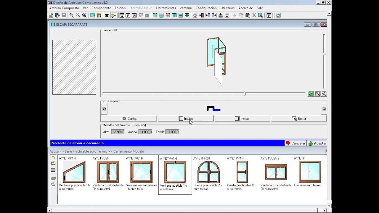 Dise os en 3d programa para carpinter a de aluminio for Programa diseno de piscinas 3d gratis
