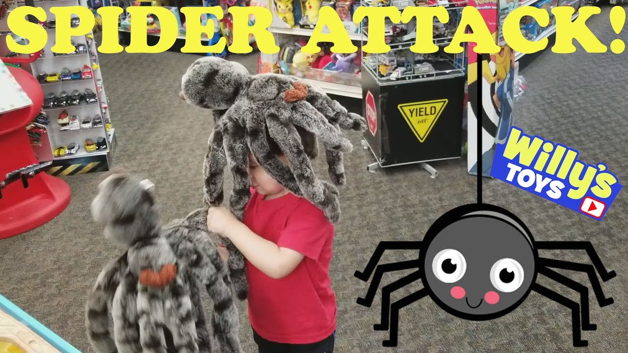 Kid Attacked By A Giant Spider Plush Toy While Playing With Thomas
