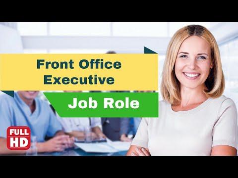 Front Office Executive Or Receptionist Job Description