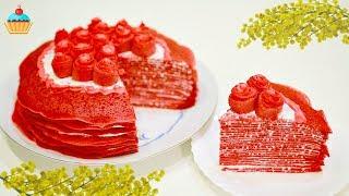 """Блинный торт """"КРАСНЫЙ БАРХАТ"""" - ну, оОчень вкусный! Масленица!"""