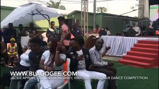 Jackie Appiah Moesha Boduong Kidi Emelia Brobbey Stars In Chair Dance Competition For 1000
