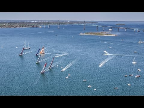 Live recording: Team Vestas Wind In-Port Race - Newport