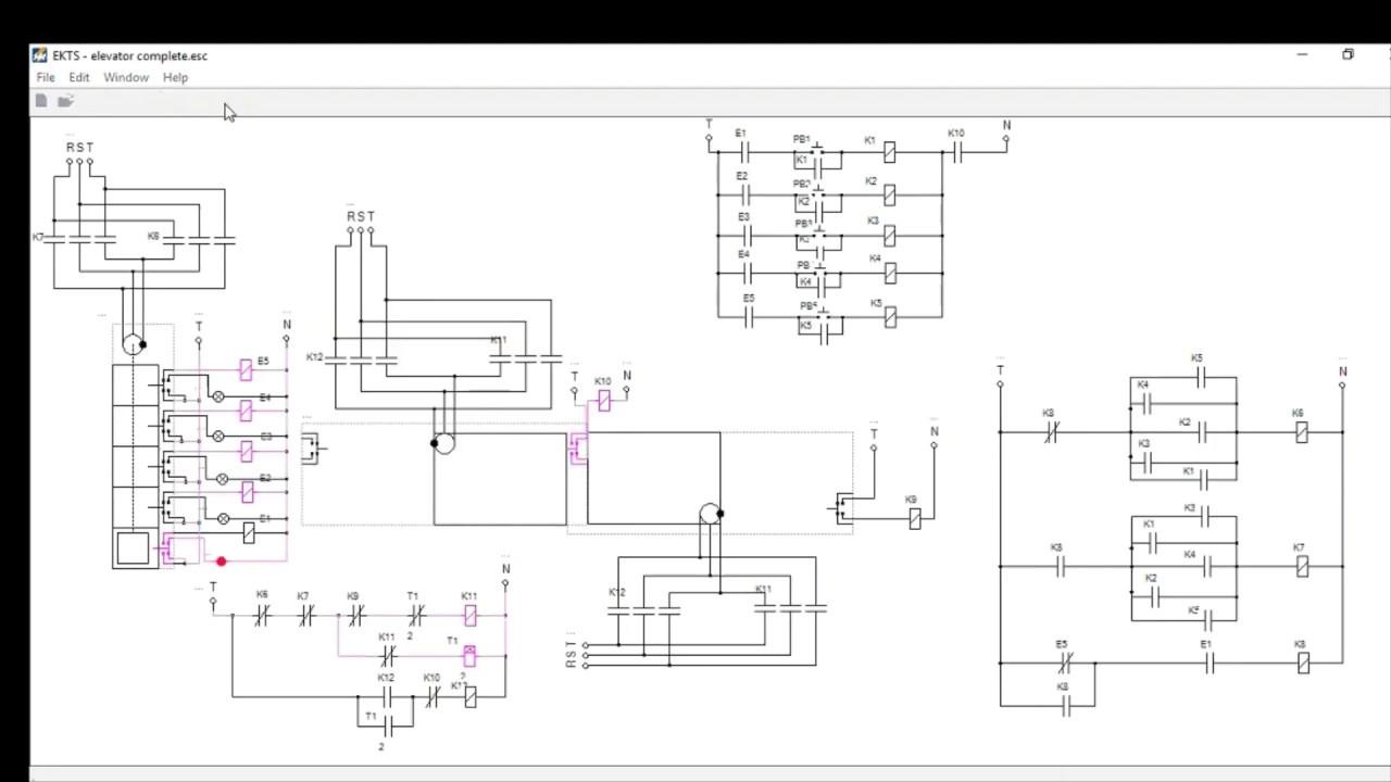 elevator 2 circuit diagram simulator youtube. Black Bedroom Furniture Sets. Home Design Ideas