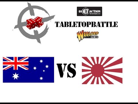 """Bolt Action 2nd ed. battle report #10 - 1943: Pacific. """"Australia vs Japan"""""""