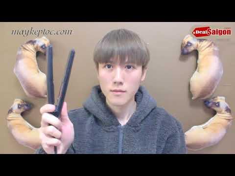 Hướng dẫn tạo kiểu tóc Nam tại nhà bằng máy kẹp tóc mini koria