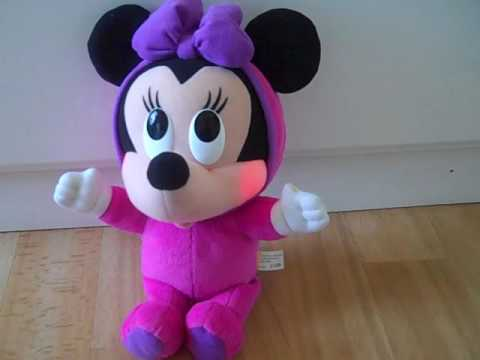 FISHER PRICE DISNEY BABY MINNIE MOUSE BEDTIME MUSICAL, LIGHT UP FACE SOFT TOy