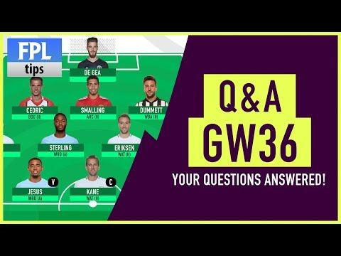 WILDCARD DRAFT & More! | Gameweek 36/37 Q&A | Fantasy Premier League 2017/18