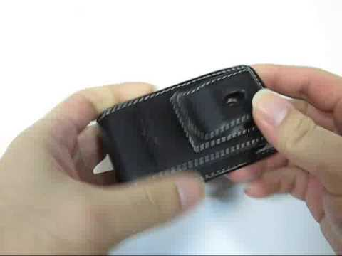 PDair Leather Case for Sony Ericsson T715/T715a - Vertical Pouch Type Belt clip included (Black)