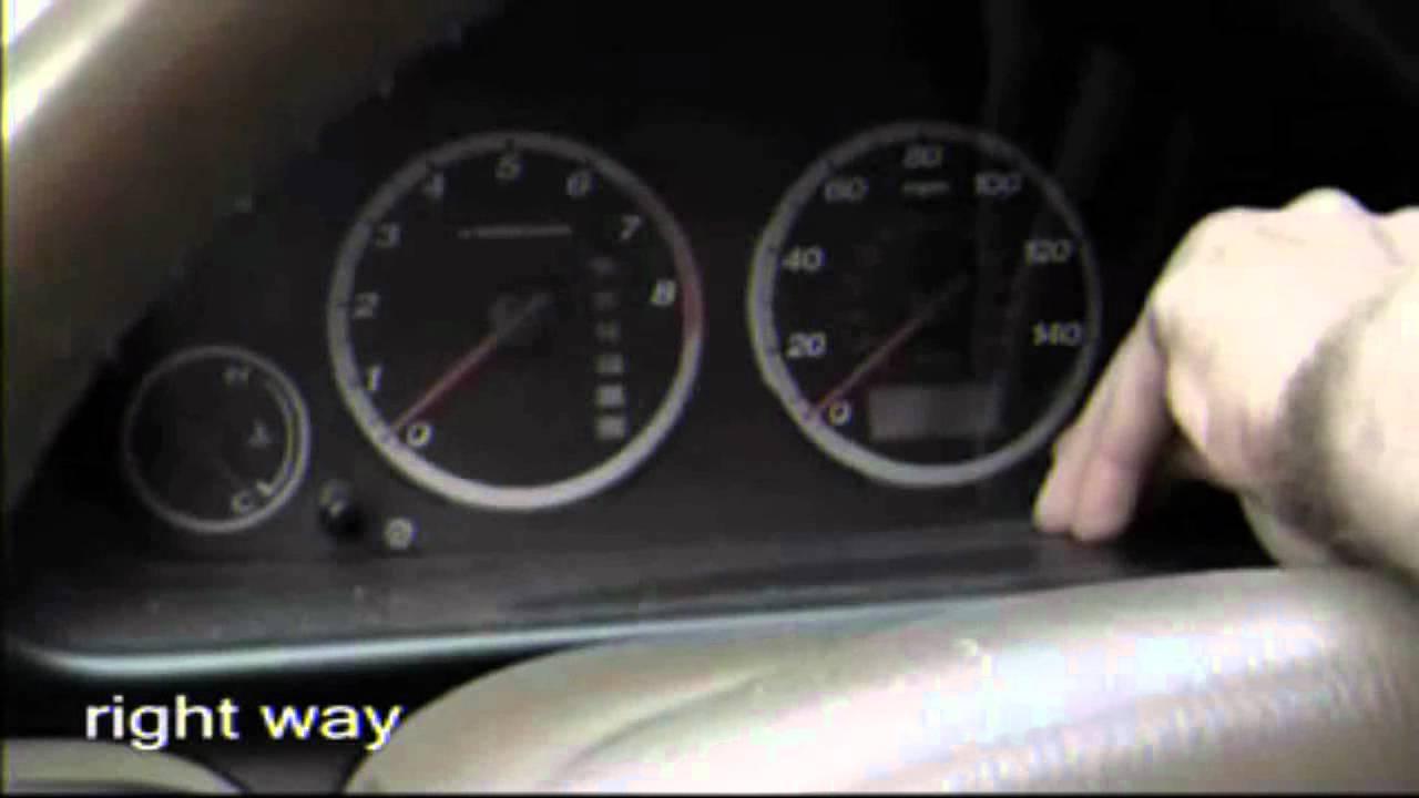 2002 Honda Crv Ex Oil Maint Light How To Youtube
