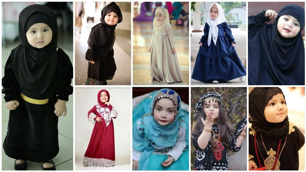 2020 Kids Girl's Abaya Muslim Kaftan Islamic Child Hijab Burquas Arab Maxi Dress