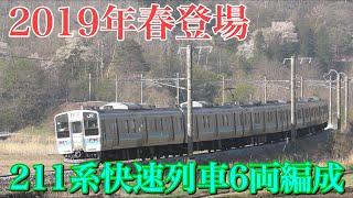 【ダイヤ改正で登場】211系6両の快速列車後追い