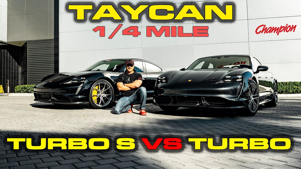 Charge Matters Porsche Taycan Turbo S Vs Turbo Performance Testing 0 60 1 4 Mile 60 130 Youtube
