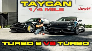 CHARGE MATTERS * Porsche Taycan Turbo S vs Turbo Performance Testing 0-60, 1/4 mile, 60-130