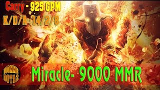 Miracle 9K MMR play Juggernaut fast farm 925 GPM - Dota 2 Ranked Match