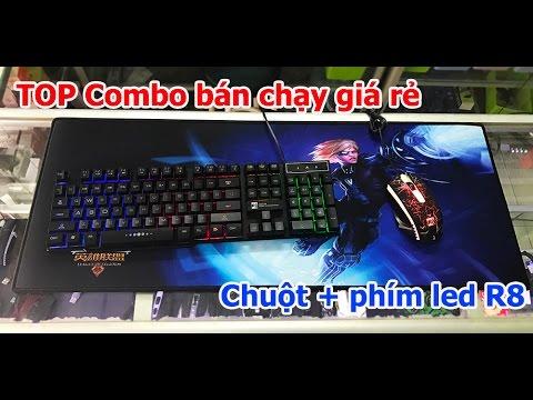 Combo chuột + bàn phím led 7 màu R8