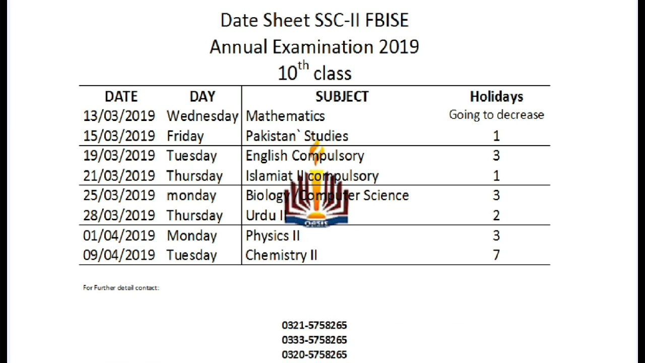 Fbise result 2020 ssc 2