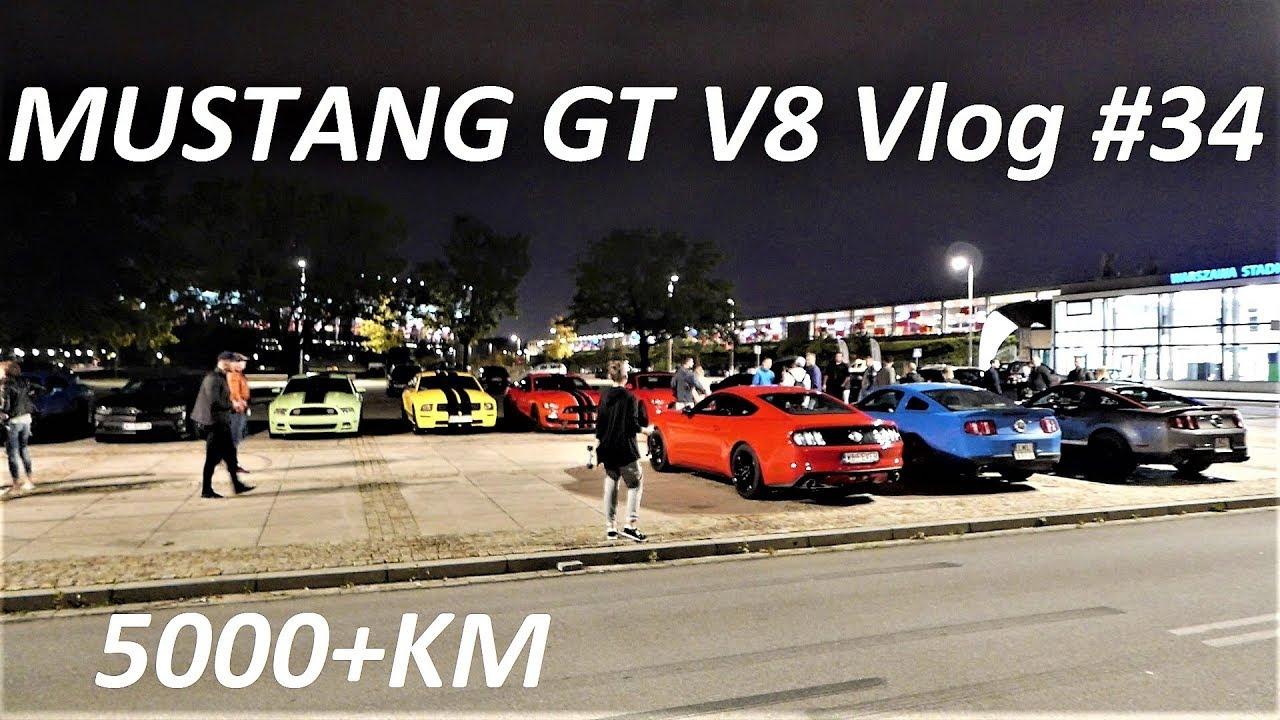 Ford Mustang Zlot V8 Vlog #34 5000+KM :)) Chevrolet Camaro Dodge Challenger