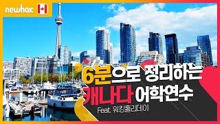 캐나다 어학연수, 6분으로 뚝딱 정리하기! (feat.…