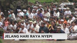 Persiapan Jelang Hari Raya Nyepi di Bali