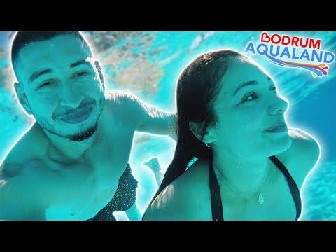 WE'RE IN TURKEY!! TÜRKİYE'DE!!🇹🇷 BODRUM AQUALAND - Turkish Travel Vlog | Jay & Rengin