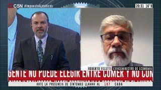 Entrevista al exviceministro de Economía Roberto Feletti en Minuto Uno