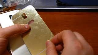 Распаковка и обзор металлического бампера с акриловой зеркальным покрытием Samsung GalaxyJ530
