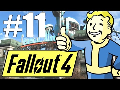 Fallout 4 Lets Play - Part 11 - General Atomics Galleria! (Survival Mode)