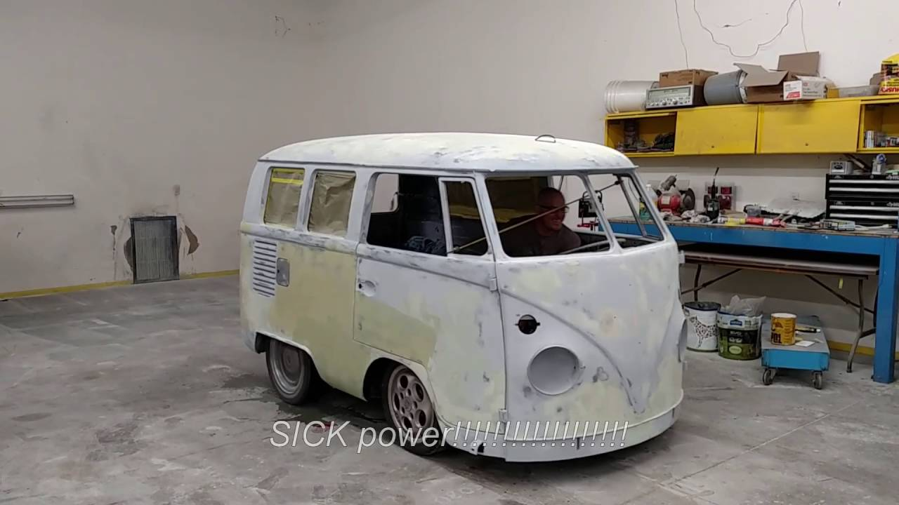1966 Vw Bus First Burnout Electric Conversion Just A Tease