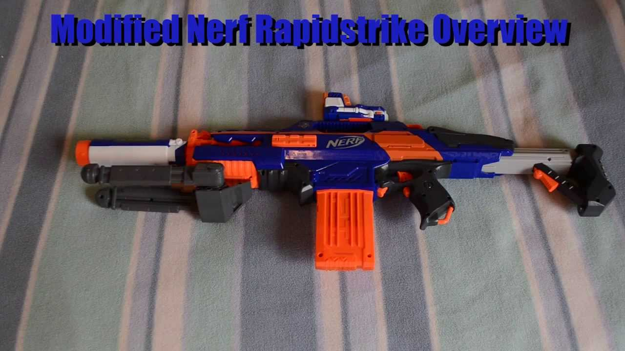 Mod Overview Nerf N Strike Elite Rapidstrike Cs 18 Moddification Overview Mod Overview Youtube