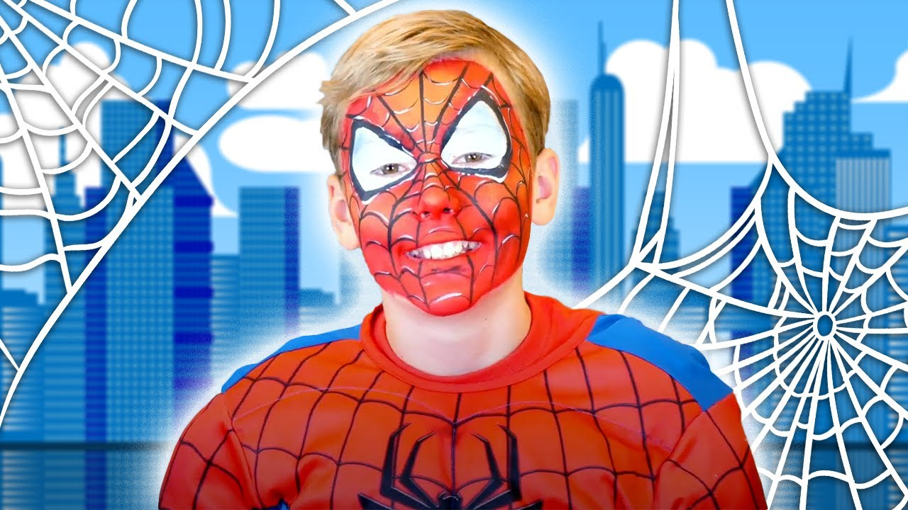 AWESOME Spider-man Face Paint   Marvel Face Paint for Kids   Funtastic TV