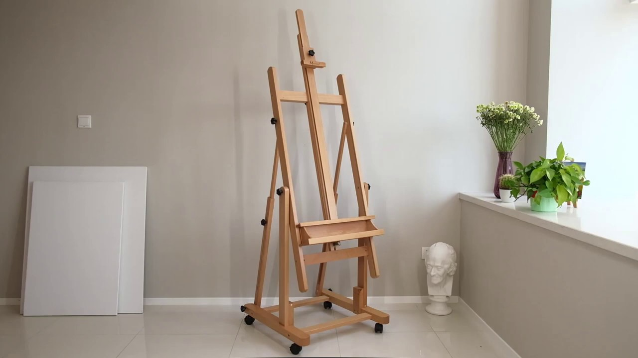 Creative Mark Carolina Artist/'s H-Frame Wooden Studio Art Easel Fully Adjustable