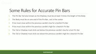 Pin Bar Price Action Forex Trading - Lesson #1 – An Introduction To Pin Bars & How To Effectively...