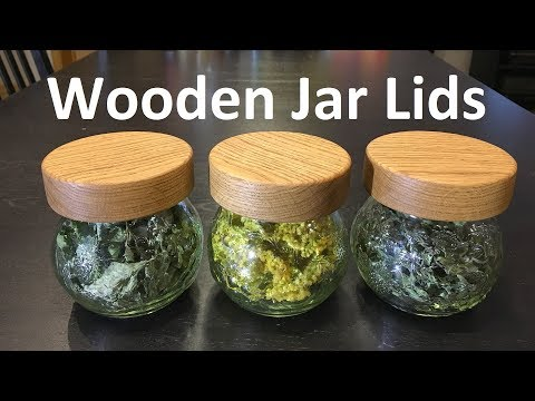 Wooden Jar Lids - made with router