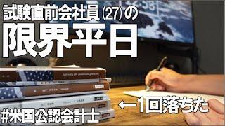 [vlog]勉強&筋トレ系会社員の平日ルーティン(試験前限界編) #73 /Study Vlog