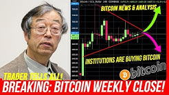 BITCOIN WEEKLY CLOSE! Institutional BTC Volume UP 2100% BEFORE HALVING! Short or Long? Bitcoin Trade