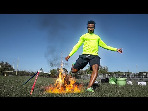 THE MOST LIT FOOTBALL CHALLENGE EVER.. LITERALLY 🔥